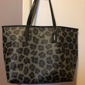 New Without Tags Coach City Tote In Ocelot Print